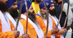 The streets of Sandymount and Ballsbridge area were awash with orange on Sunday when thousands of Sikhs turned out for the annual Vaisakhi celebration. Photograph: Nick Bradshaw