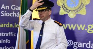 Garda Commissioner Drew Harris: was escorted from the North to Garda headquarters by PSNI officers. Photograph: Cyril Byrne/THE IRISH TIMES