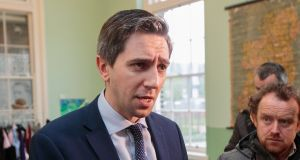 Minister for Health Simon Harris during a Healthy Ireland Campaign event  at Richmond Barracks, Inchicore, Dublin. Photograph: Gareth Chaney Collins
