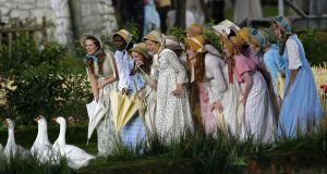 The old country: performers during a scene showing a pre-industrial rural England as part of  the opening ceremony of the London 2012 Olympic Games. Photograph: Mike Blake/Reuters