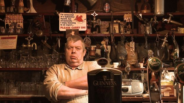 Paul Gartlan, a Cavan landlord, in Alex Fegan's film The Irish Pub: rural communities are feeling the pinch under drink-driving laws.
