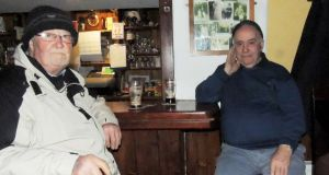 "JJ Jackson  and Bertie McNamara: ""oral historians"" and frequent customers at White's in Carbally, Co Waterford."