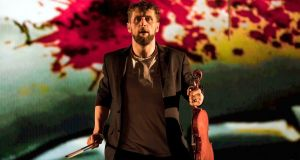 Aaron Monaghan as Martin in Enda Walsh and Donnacha Dennehy's The Second Violinist. Photograph: Patrick Redmond