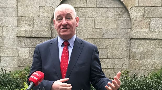 Former SDLP leader Mark Durkan speaks to the media in Dublin on Monday. Photograph: Cate McCurry/PA Wire