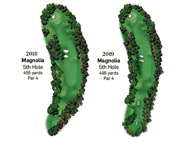 A view of the changes that have been made to the fifth hole for the 2019 US Masters. Photo: Irish Times Pre-Media