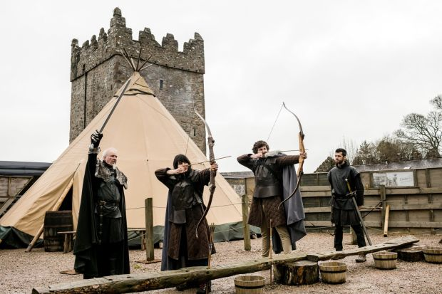 Game of Thrones: Tourists can test their archery skills at the Castle Ward farmyard. Photograph: Robert Ormerod/NYT