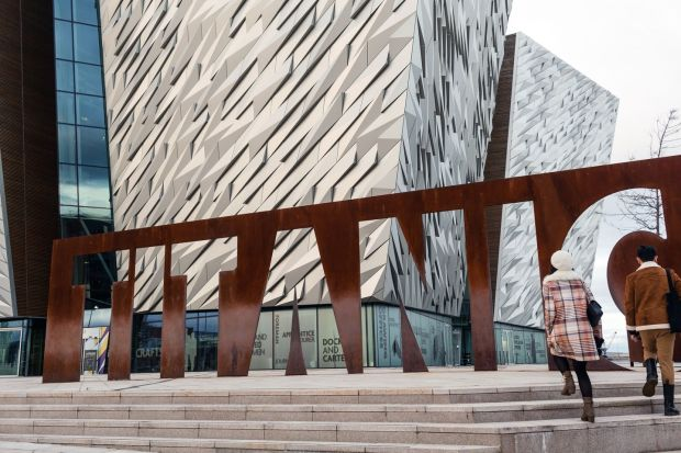 Game of Thrones: the sleek Titanic Belfast museum anchors Belfast's Titanic Quarter, which includes the Thrones studio. Photograph: Robert Ormerod/NYT