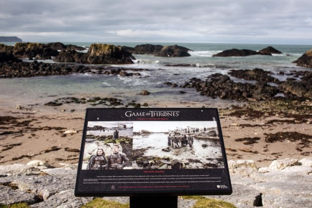 Game of Thrones: Ballintoy beach doubled as the Iron Islands. Photograph: Robert Ormerod/NYT