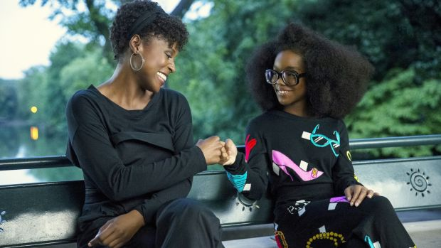 (from left) April Williams (Issa Rae) and little Jordan Sanders (Marsai Martin) in Little, co-written and directed by Tina Gordon.