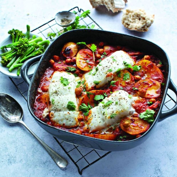 Spicy Indian fish bake. Photograph: Joanne Murphy