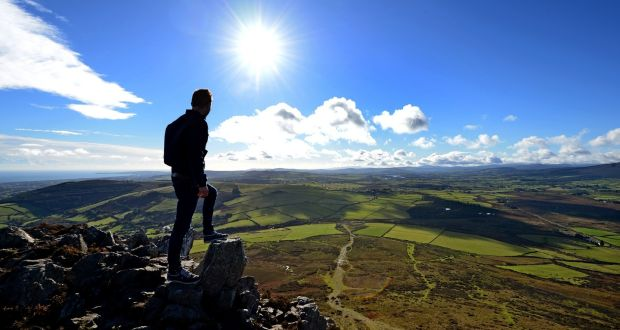 Hill walkers in the autumn sunshine, on top of the Sugarloaf mountain, in Co. Wicklow. File Photograph: Eric Luke
