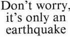 The headline on the report by Alison O'Connor about an earthquake in Clonmany, Co Donegal, in 1994.