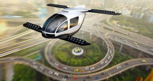 Up, up and away: flying cars might solve the problem of traffic congestion in dense urban areas.