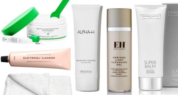 Double cleanse: Drunk Elephant Slaai Makeup-Melting Butter Cleanser, Lixir Electrogel Cleanser,