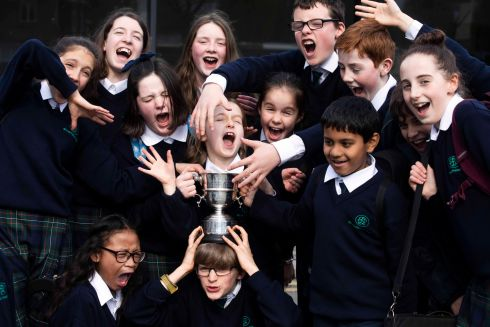 St Louis Senior Primary school orchestra, winners of the primary school orchestra competition. Photograph: Clare Keogh
