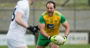 Donegal captain Michael Murphy in action against Kildare in the league. 'Dublin are a massive way down the line, a huge distance.' Photograph: Evan Logan/Inpho