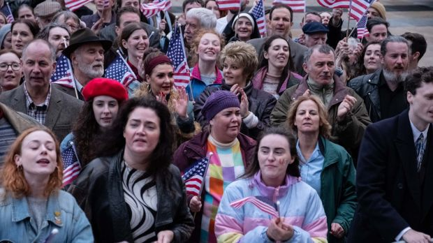 The Derry Girls during the Clinton Visit