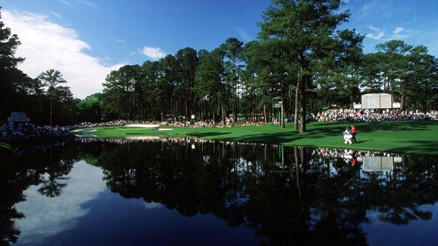 The 15th hole at Augusta National, pictured in 1991. Photograph: Inpho/Allsport