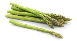 Asparagus tip: this vegetable should cook in no time – just keep swirling the pot continuously