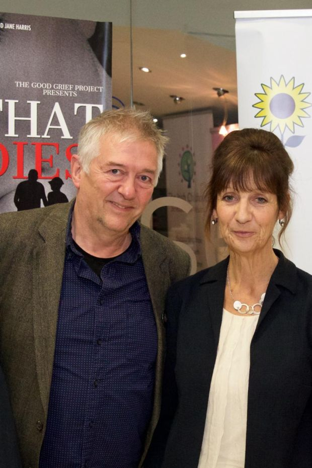 Jimmy Edmonds & Jane Harris at the Irish premiere hosted by the Irish Hospice Foundation