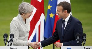 The dilemma facing Emmanuel Macron is that a long extension to the UK departure date will provide an opportunity for further subversion. At the very least it will allow the British political system to engage in endless prevarication. Photograph:  Thierry Chesnot/Getty Images