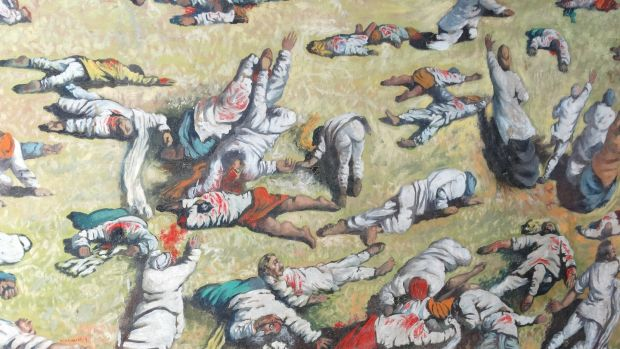The Amritsar massacre was one of the worst atrocities carried out by the British Empire. At least 379 peaceful protesters gathered at the Jallianwala Bagh walled garden were killed by British troops in April 1919