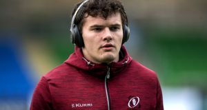 Ulster's Jacob Stockdale on his botched try: 'It's a mistake I'll probably play over in my head thousands and thousands of times.' Photograph: Craig Watson/Inpho