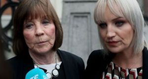 Mary Coll and Jacqueline Connolly, Clodagh Hawe's mother and sister. Photograph: Brian Lawless/PA Wire
