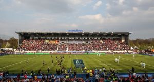 Allianz Park is the home of Saracens rugby. Photograph: James Crombie/Inpho