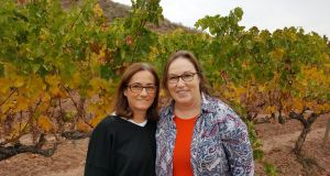 Lynne Coyle, MW (right) with her fellow wine-maker Alicia Eyaralar at Bodegas Tandem in Navarra, Spain.