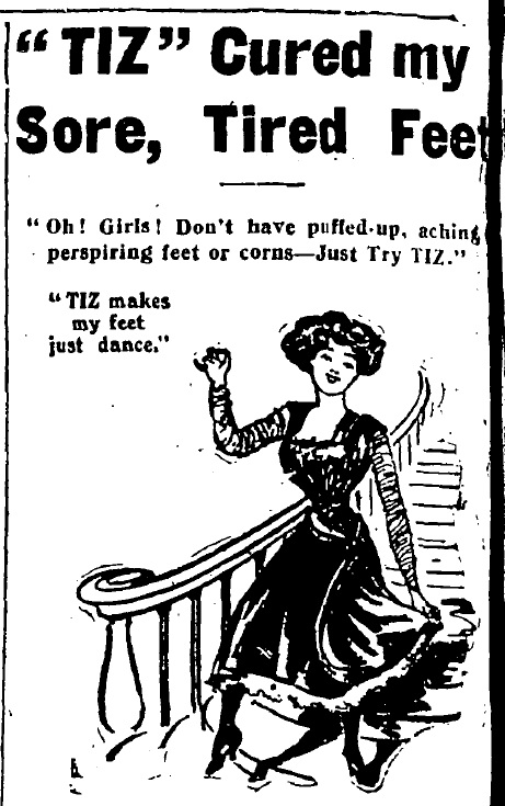 An advertisement aimed at preventing some of the 'hygienic crimes' heels perpetrate, from The Irish Times on Saturday, April 25th, 1914