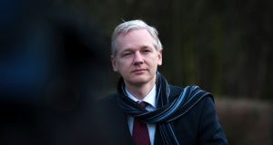 Julian Assange, the founder of WikiLeaks, in London in February 2011. Photograph: Andrew Testa/The New York Times