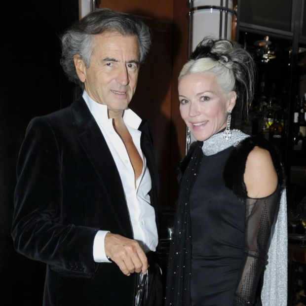 Bernard-Henri Levy with Daphne Guinness in 2010. Photograph: Daisy Johnson/Patrick McMullan/Getty