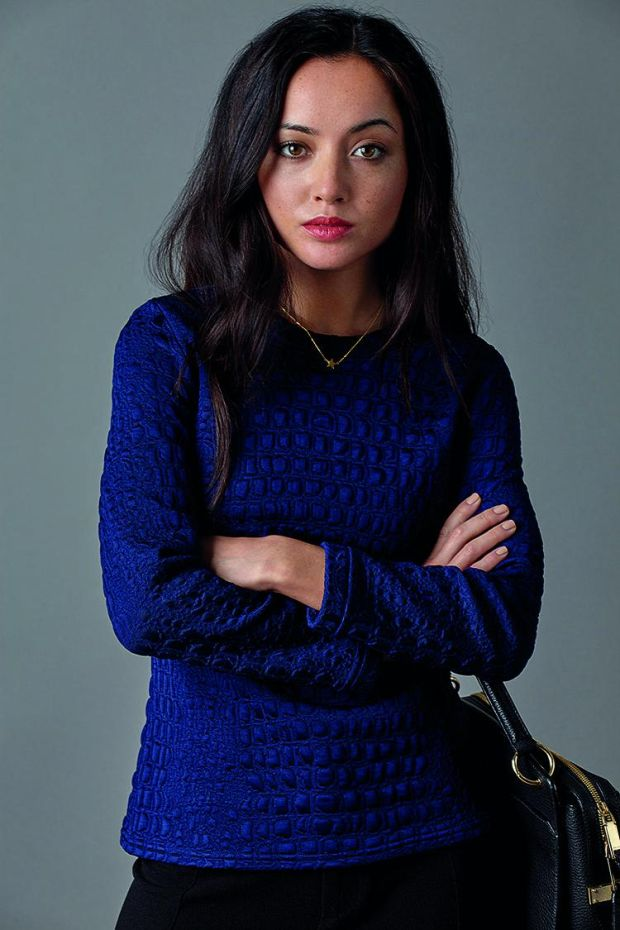 The Pym navy sweater by Jennifer Anne.