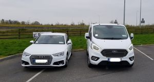 The Criminal Assets Bureau seized an Audi and a Ford in Co Limerick on foot of a High Court order. Photograph: AGS
