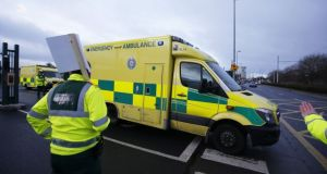 Ambulance staff are to consider proposals for full 24-hour strikes or rolling work stoppages as part of an escalation of their long-running dispute over trade union representation rights. Photograph: Alan Betson/The Irish Times