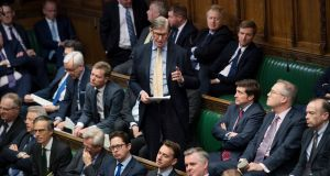 Tory Brexiteer Bill Cash speaking on Thursday in the House of Commons, where he suggested prime minister Theresa May should resign. Photograph: UK Parliament/Jessica Taylor/PA Wire