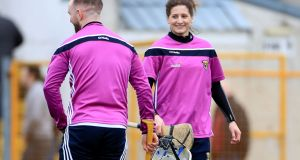 Wexford goalkeeping coach Mags D'Arcy: 'I'm a winner, I'm really competitive.' Photograph: James Crombie/Inpho