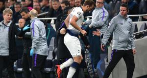 Harry Kane suffered a 'significant ligament injury' during Tottenham's win over Man City. Photograph: Dan Mullan/Getty