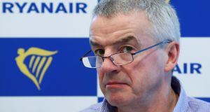Ryanair boss Michael O'Leary 'This idea that by taxing something we're just going to reduce its use is nonsense'. Photograph: Yves Herman/Reuters