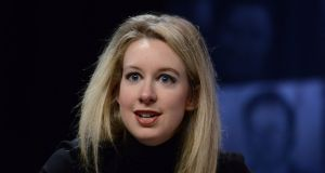 Elizabeth Holmes, founder and chief executive of Theranos,  was once estimated by Forbes to have a personal net worth of $4.5 billion.  Photograph: Lisa Lake/ Getty Images
