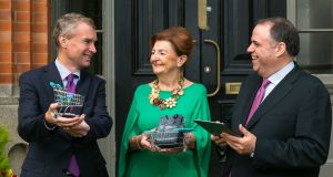 From left: Prof Anthony Brabazon, dean of the UCD College of Business; Breege O'Donoghue, Primark brand ambassador and board member of the UCD Michael Smurfit Graduate Business School; and Prof Damien McLoughlin, marketing subject area head at UCD Michael Smurfit Graduate Business School.