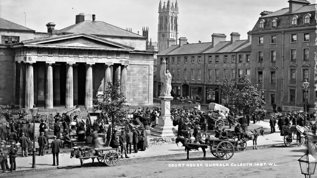 A view of the courthouse in Dundalk, circa 1910. Photograph: National Library of Ireland/Flickr Commons