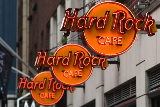 Hard Rock Cafe: some Dublin staff are unhappy at how its service charges are treated. Photograph: Artur Widak/NurPhoto via Getty