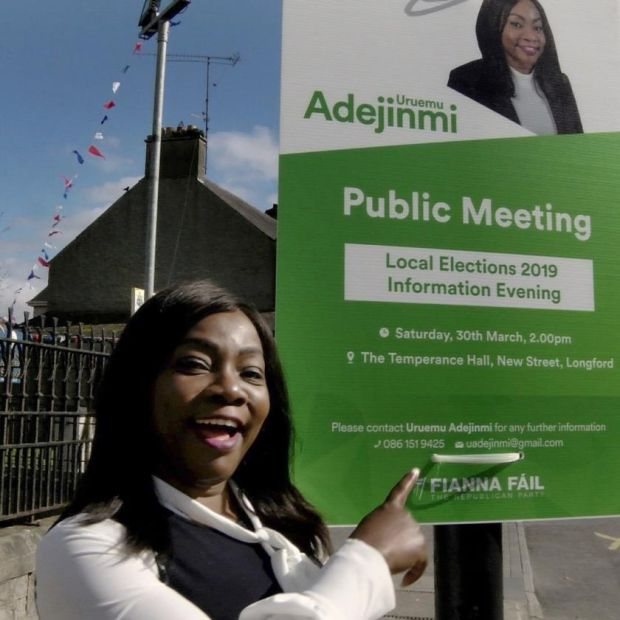 Local-election candidate: Uruemu Adejinmi, who is running for Fianna Fáil in Longford. Photograph: Kathleen Harris