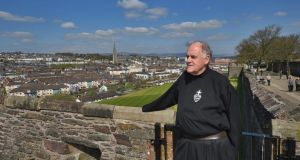 "Fr Aidan Troy in Derry: ""Unless you've stood in the middle of the absolute breakdown of community relations you will never understand how dangerous the situation is now."" Photograph: Trevor McBride"