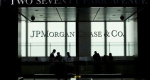 JP Morgan shares moved ahead as investors cheered the group's results. Photograph: Reuters