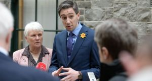 Questions, questions: Catherine Byrne, Minister of State at the Department of Health, and  Minister for Health Simon Harris.  Photograph: Alan Betson/The Irish Times