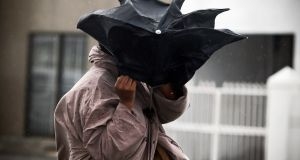 Three wind and rainfall warnings have been issued this weekend. File photograph: Nic Bothma/EPA