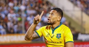 Israel Folau has refused to retract anti-gay comments as he faces the sack by Rugby Australia. Photograph: Jan Touzeau/EPAEAU